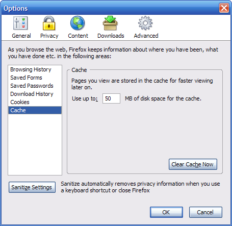 Where's Walden? » The new Firefox Options window